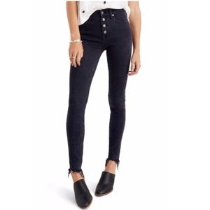 "Madewell 9"" Mid-Rise Button Fly Skinny Jeans"